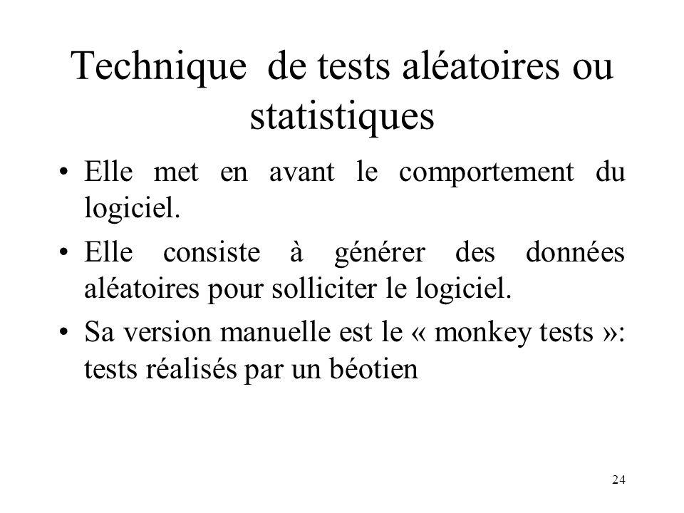 Technique de tests aléatoires ou statistiques