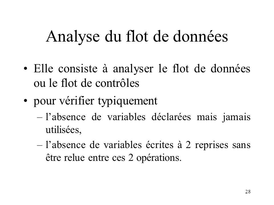 Analyse du flot de données