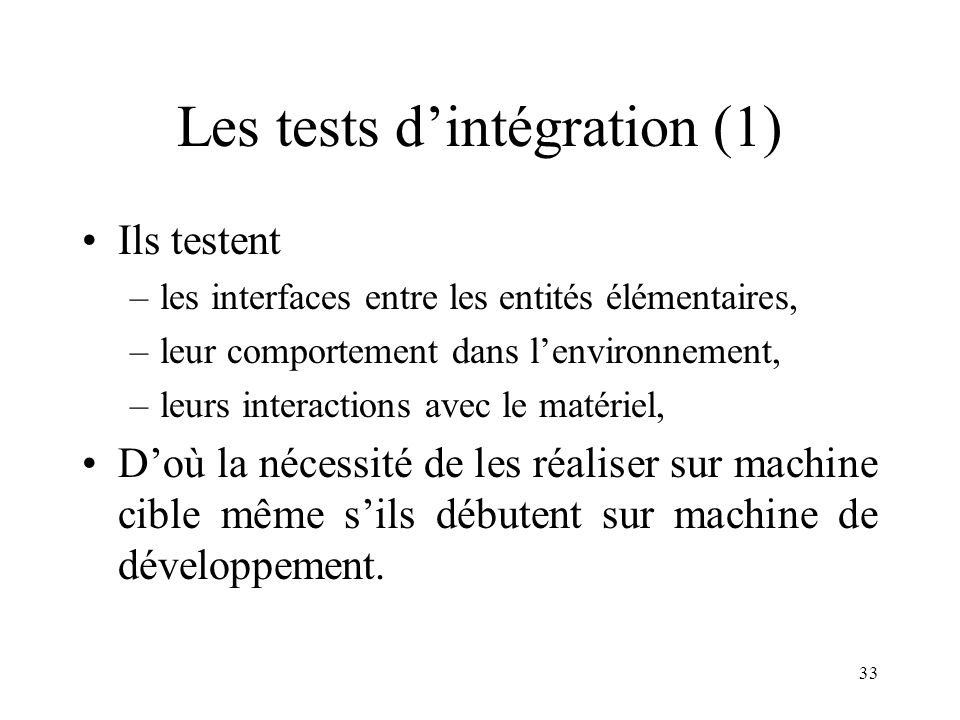 Les tests d'intégration (1)