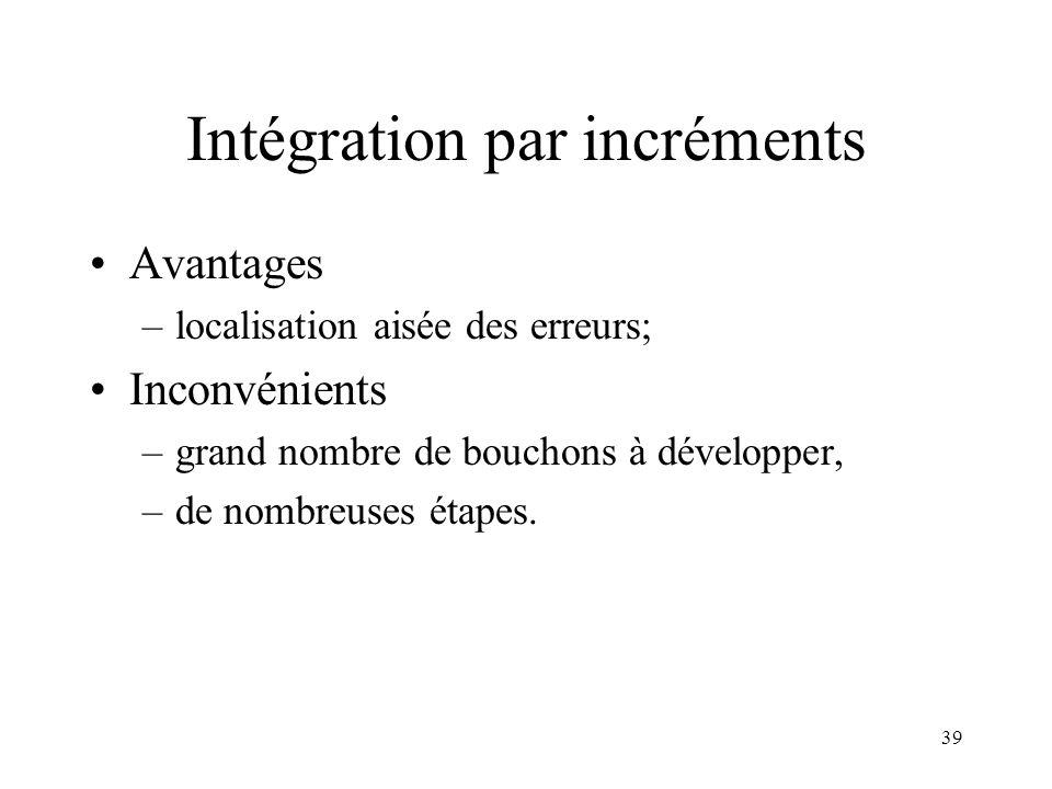 Intégration par incréments