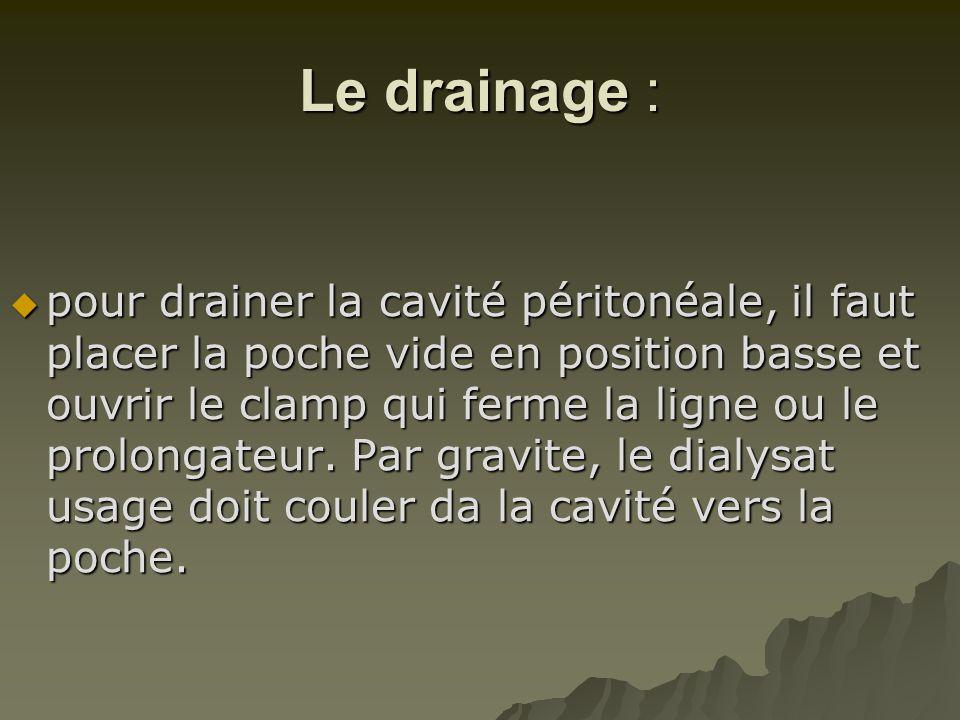 Le drainage :