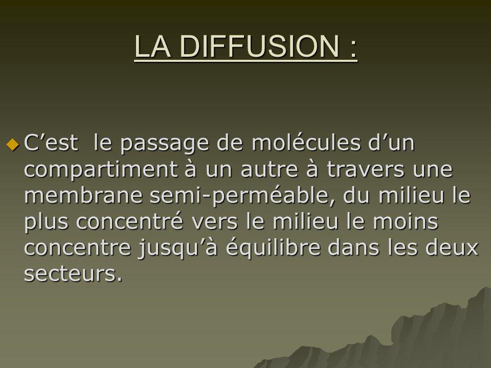 LA DIFFUSION :