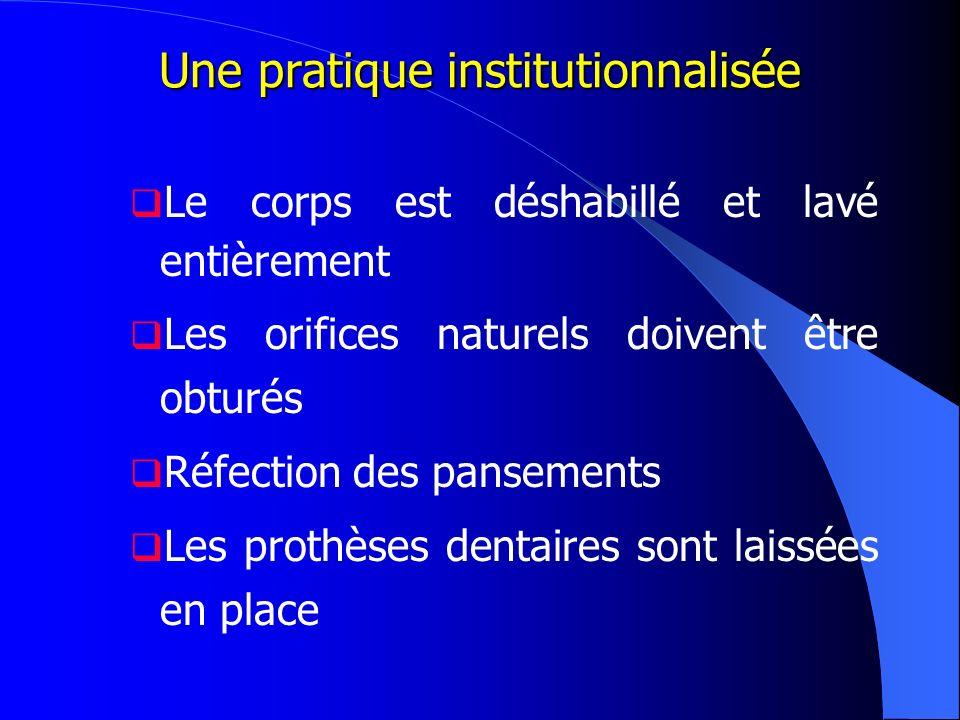 Une pratique institutionnalisée