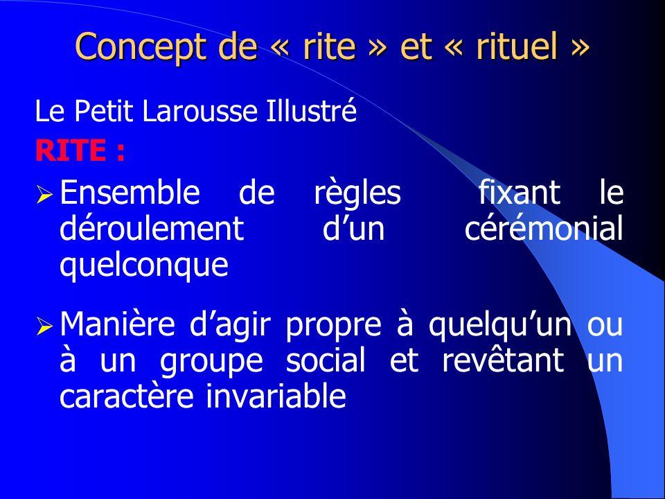 Concept de « rite » et « rituel »