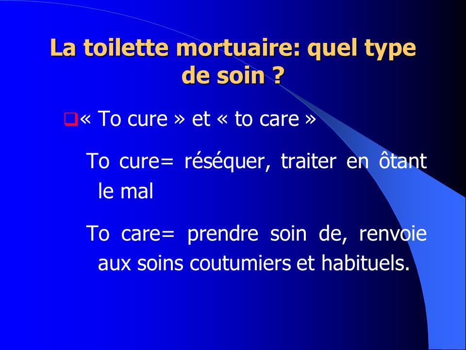 La toilette mortuaire: quel type de soin