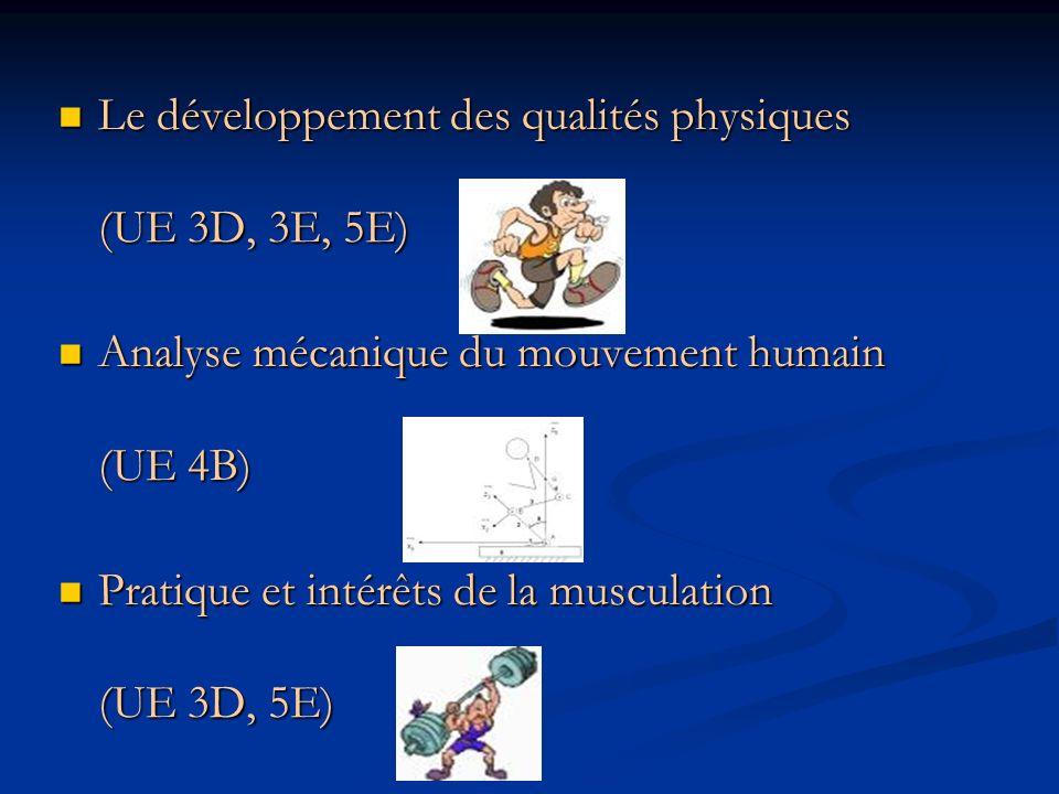 Le développement des qualités physiques (UE 3D, 3E, 5E)