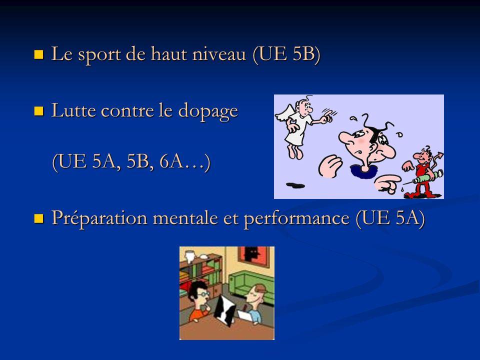 Le sport de haut niveau (UE 5B)