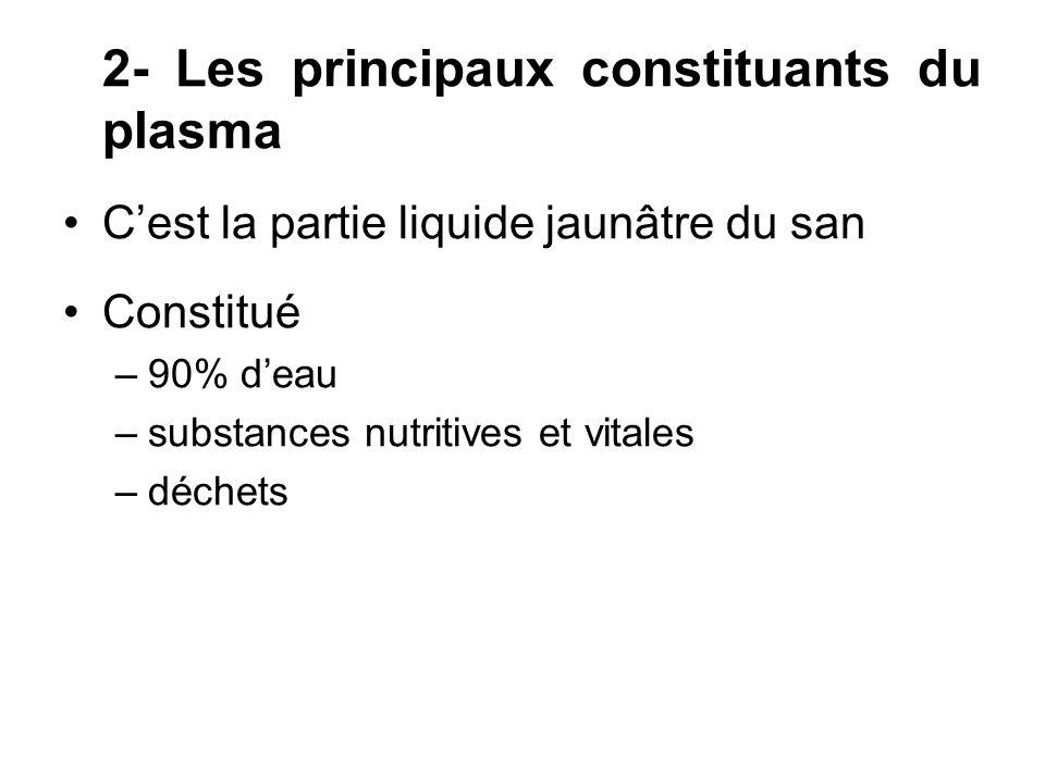 2- Les principaux constituants du plasma