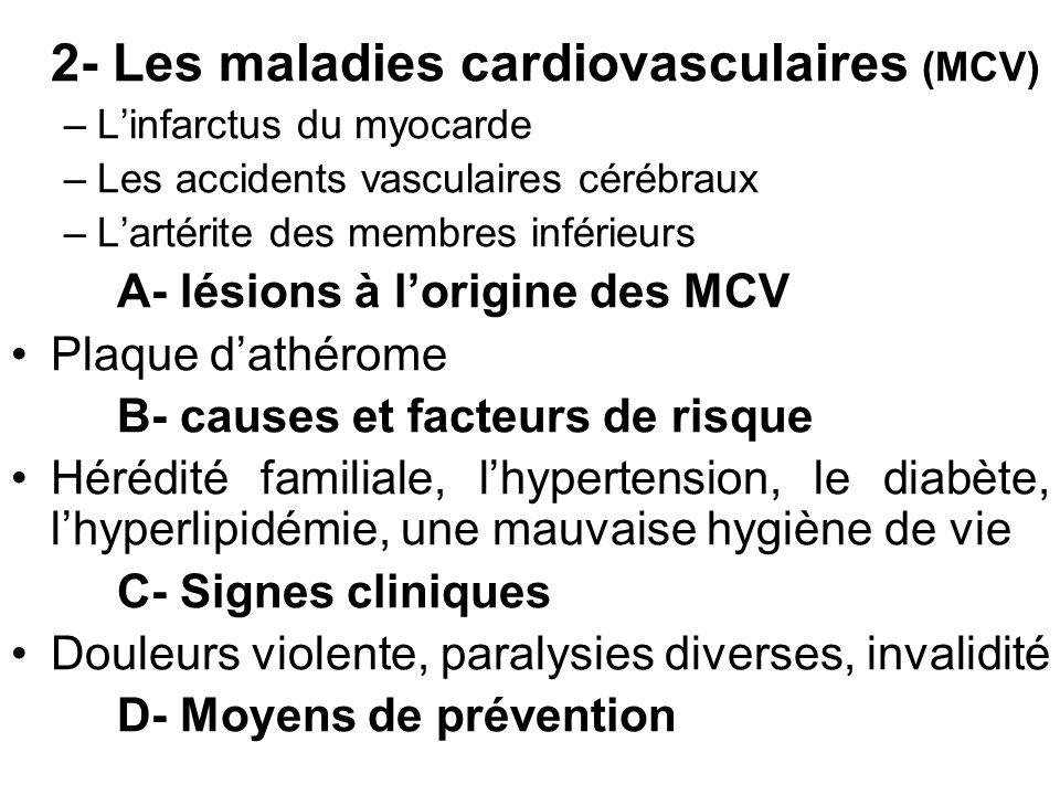 2- Les maladies cardiovasculaires (MCV)
