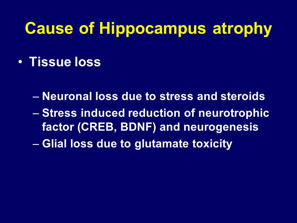 Cause of Hippocampus atrophy