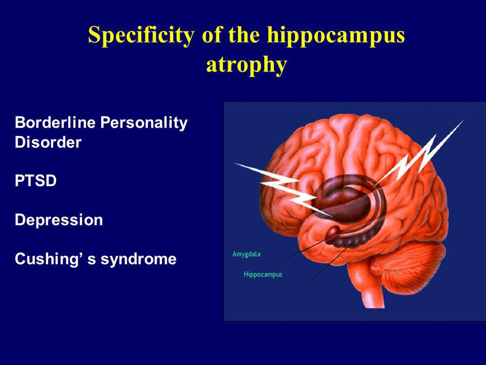 Specificity of the hippocampus atrophy