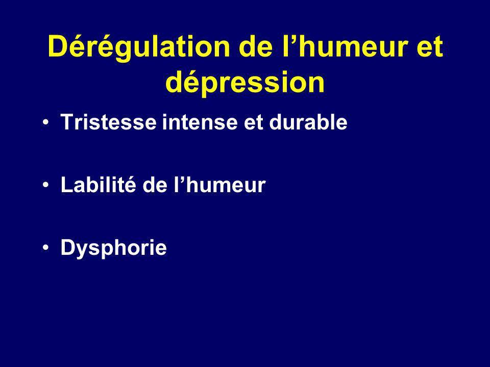 Dérégulation de l'humeur et dépression