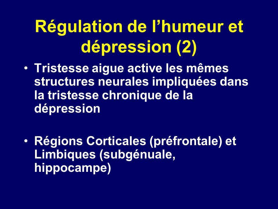 Régulation de l'humeur et dépression (2)
