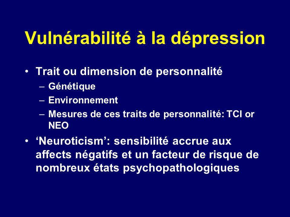 Vulnérabilité à la dépression