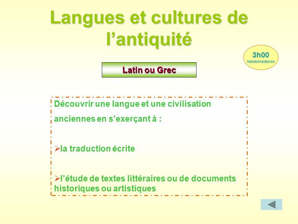 Langues et cultures de l'antiquité