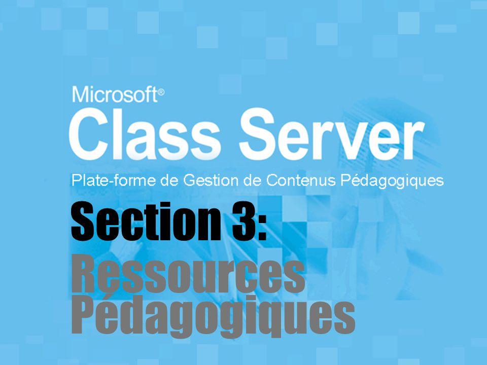 Section 3: Ressources Pédagogiques