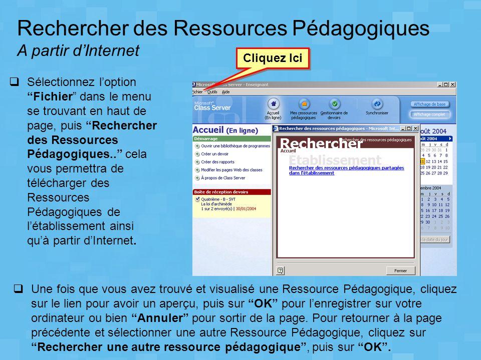 Rechercher des Ressources Pédagogiques A partir d'Internet