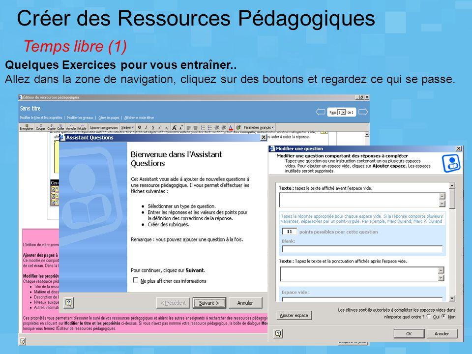 Créer des Ressources Pédagogiques Temps libre (1)