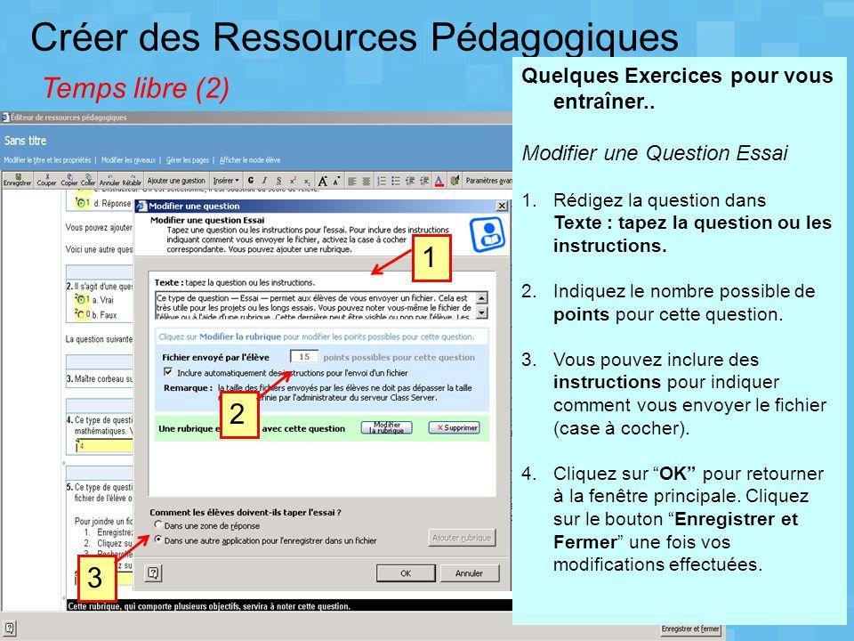 Créer des Ressources Pédagogiques Temps libre (2)
