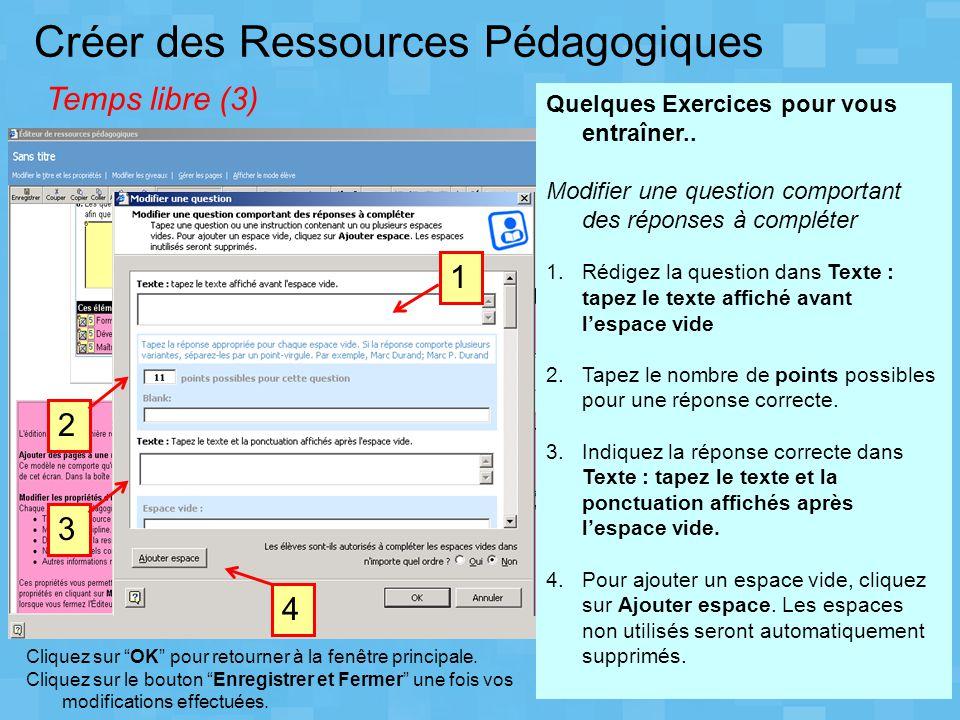 Créer des Ressources Pédagogiques Temps libre (3)