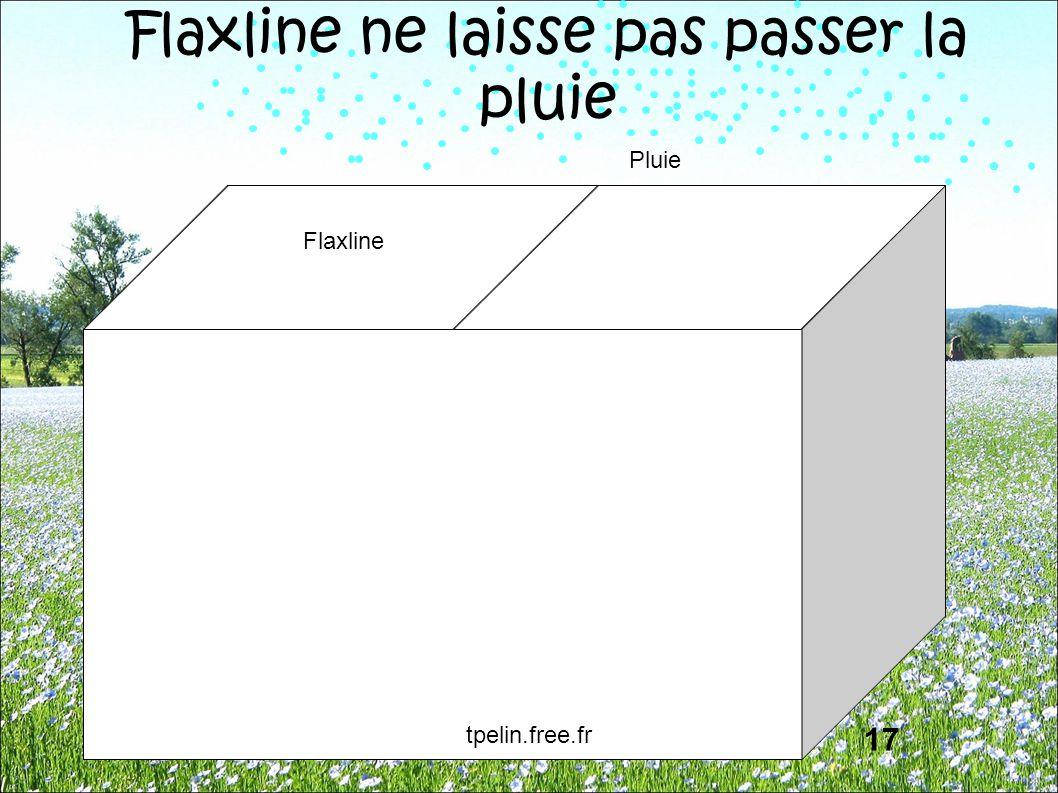 Flaxline ne laisse pas passer la pluie