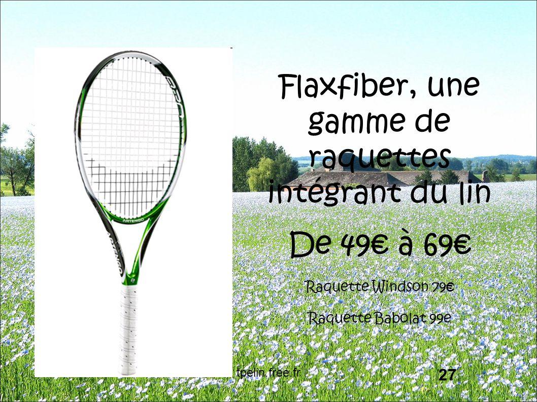 Flaxfiber, une gamme de raquettes intégrant du lin