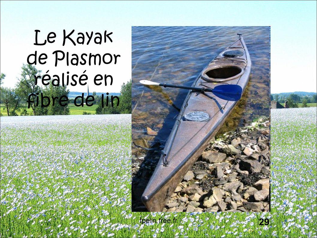 Le Kayak de Plasmor réalisé en fibre de lin