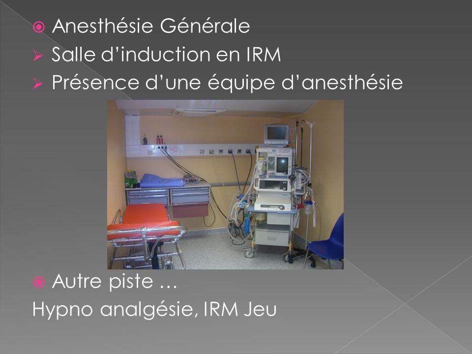 Anesthésie Générale Salle d'induction en IRM. Présence d'une équipe d'anesthésie.