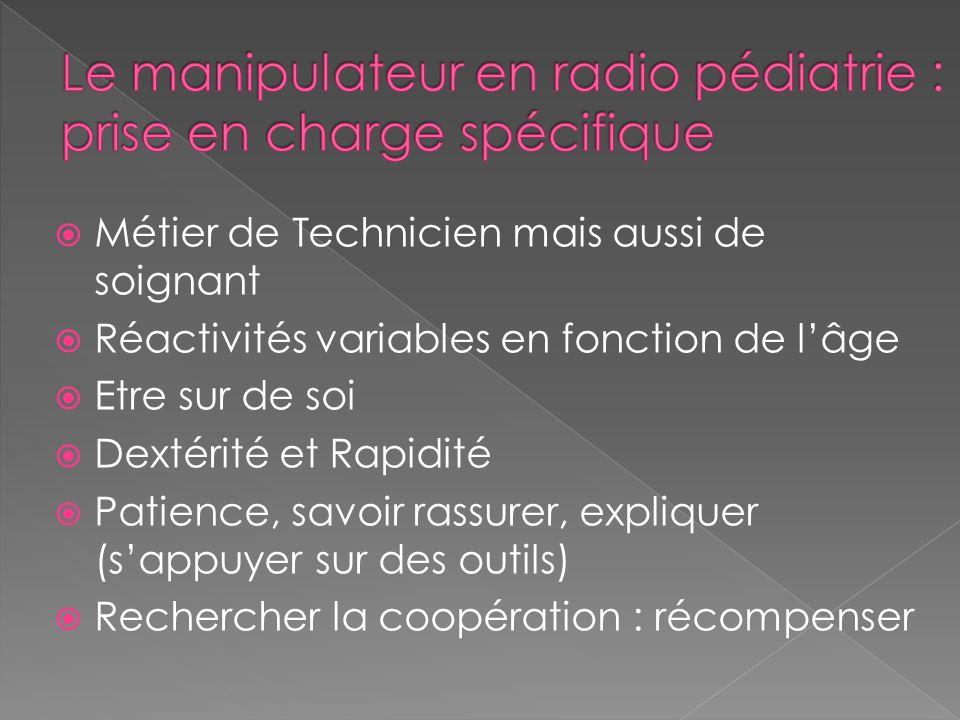 Le manipulateur en radio pédiatrie : prise en charge spécifique