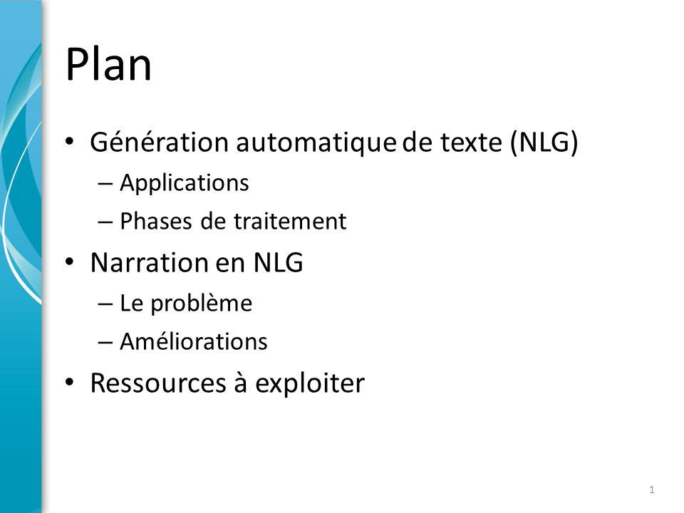 Génération de texte (NLG)