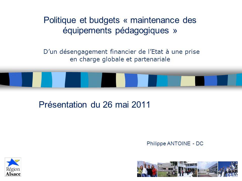 Présentation du 26 mai 2011 Philippe ANTOINE - DC