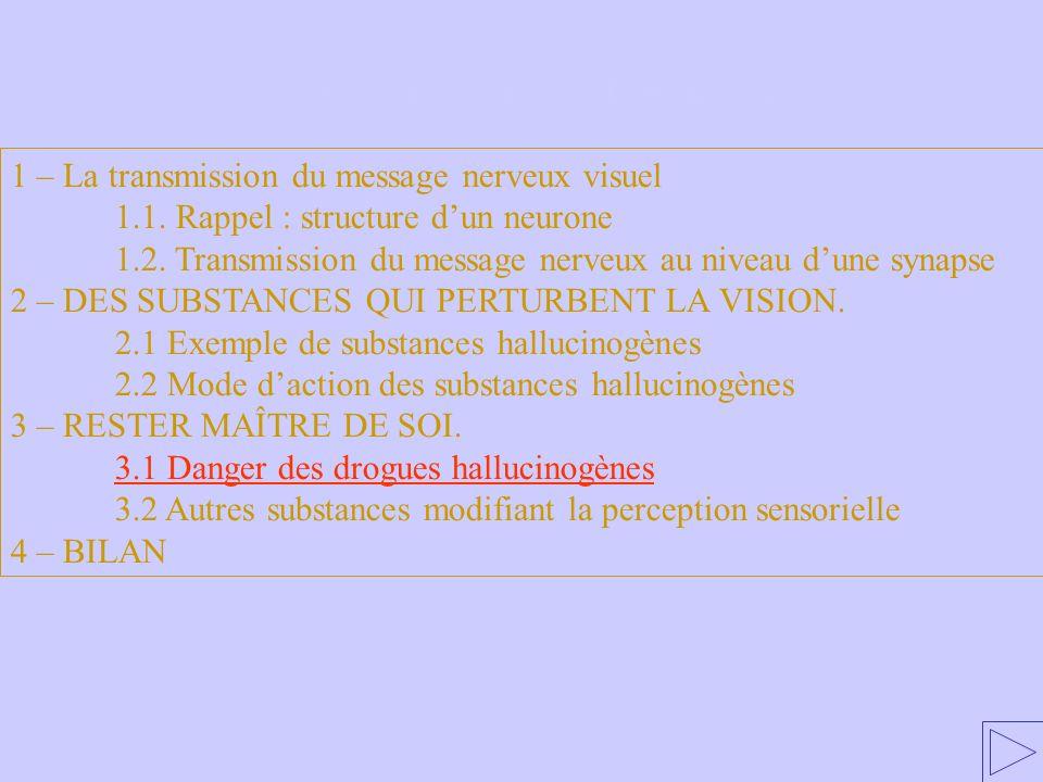3.1 Danger des drogues hallucinogènes