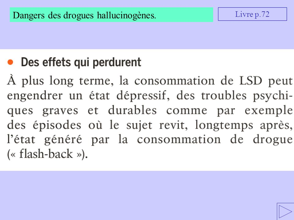 Dangers des drogues hallucinogènes.