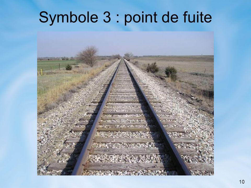 Symbole 3 : point de fuite