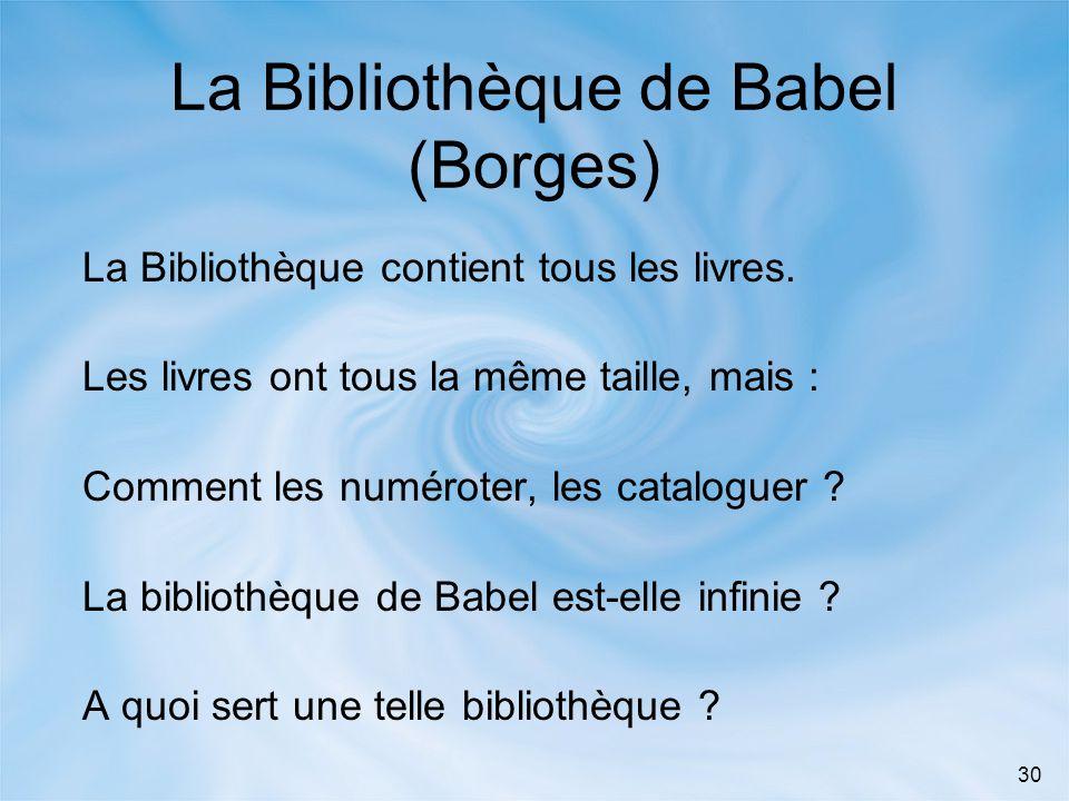La Bibliothèque de Babel (Borges)