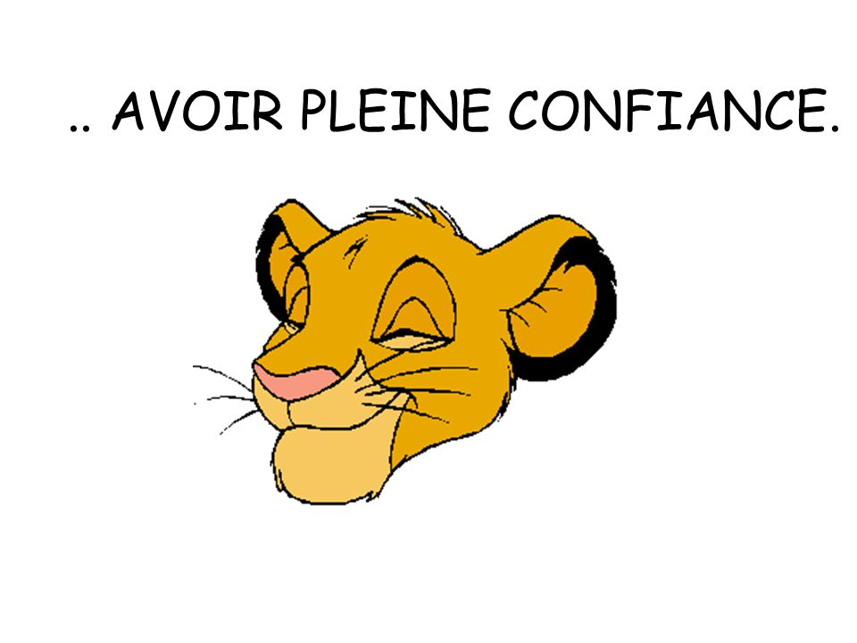 .. AVOIR PLEINE CONFIANCE.