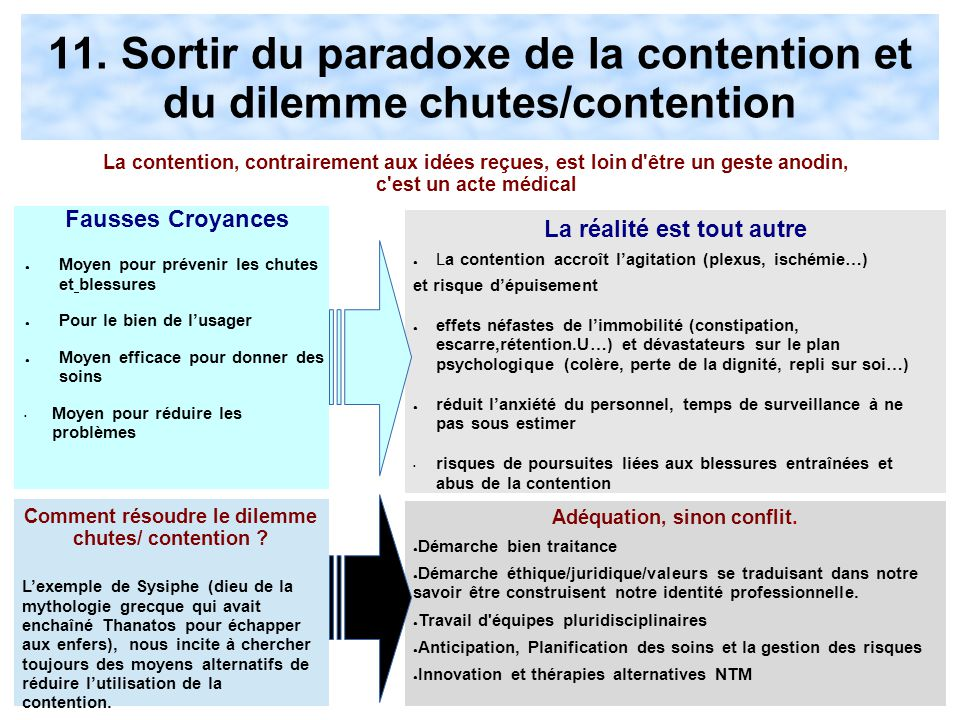11. Sortir du paradoxe de la contention et du dilemme chutes/contention