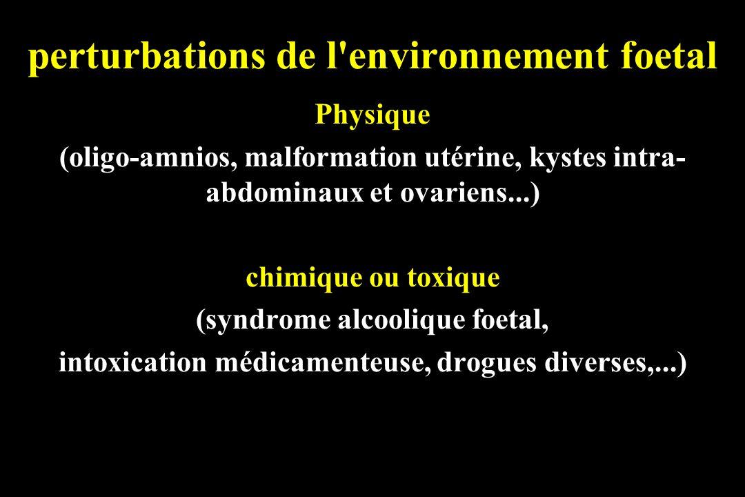 perturbations de l environnement foetal