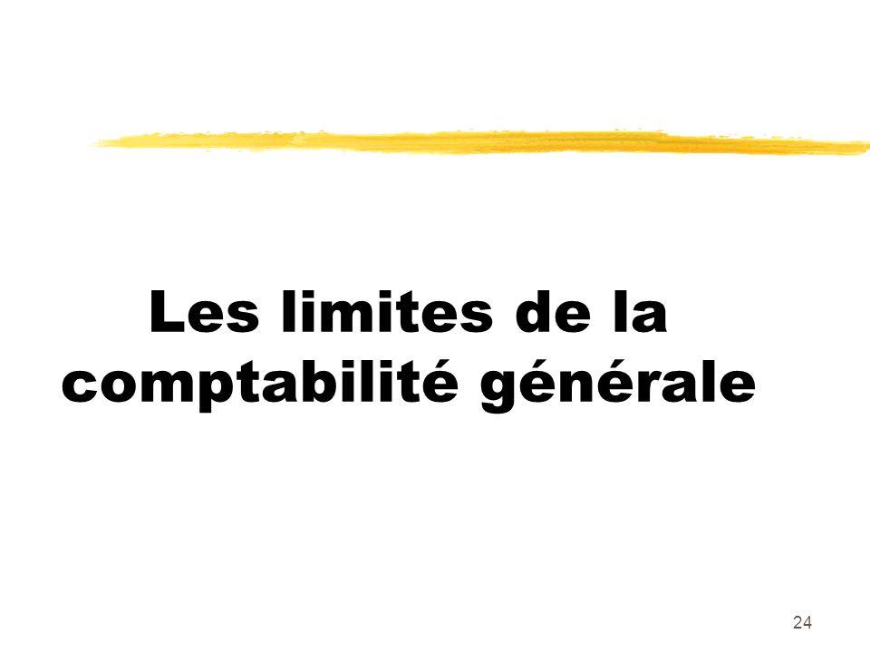 Les limites de la comptabilité générale