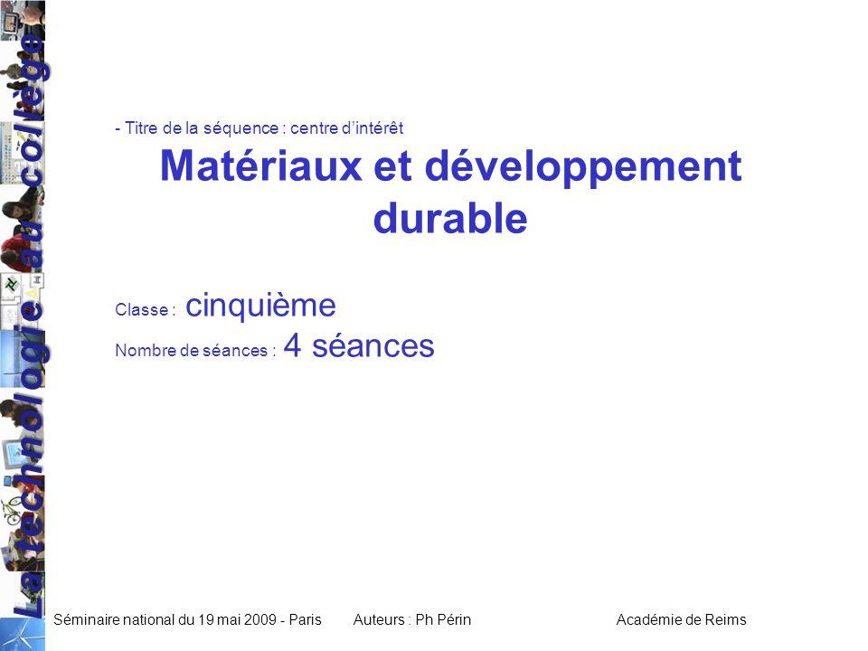 Matériaux et développement durable
