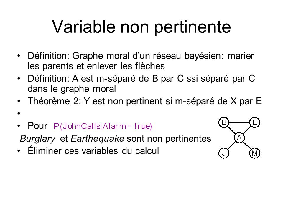 Variable non pertinente