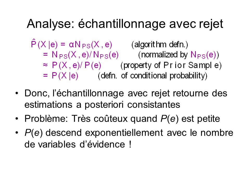 Analyse: échantillonnage avec rejet