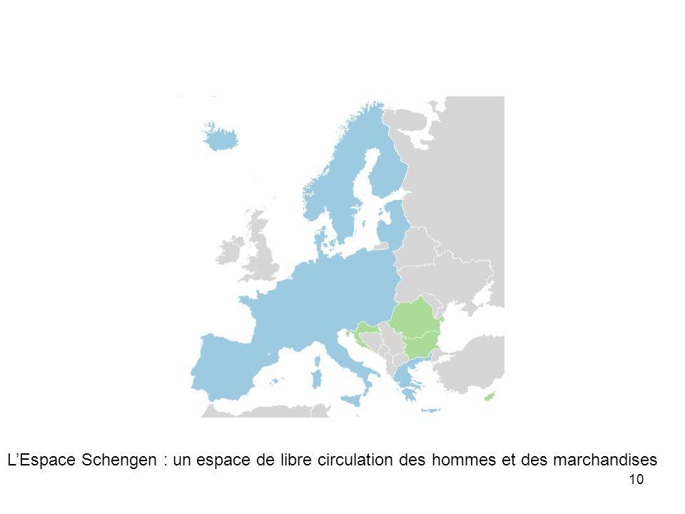 L'Espace Schengen : un espace de libre circulation des hommes et des marchandises