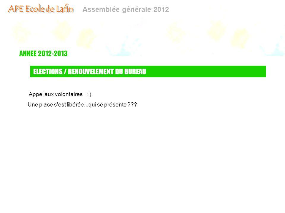 ELECTIONS / RENOUVELEMENT DU BUREAU