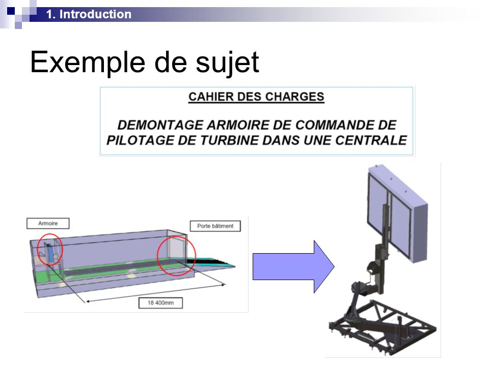 1. Introduction Exemple de sujet