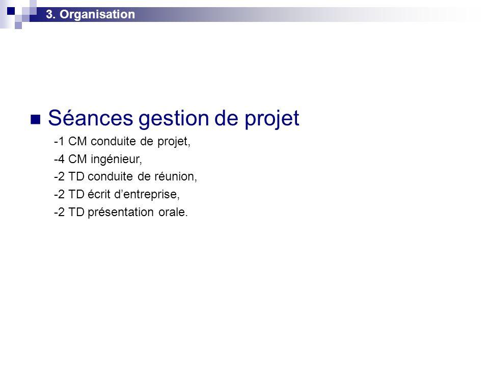 Séances gestion de projet