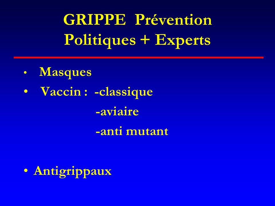 GRIPPE Prévention Politiques + Experts
