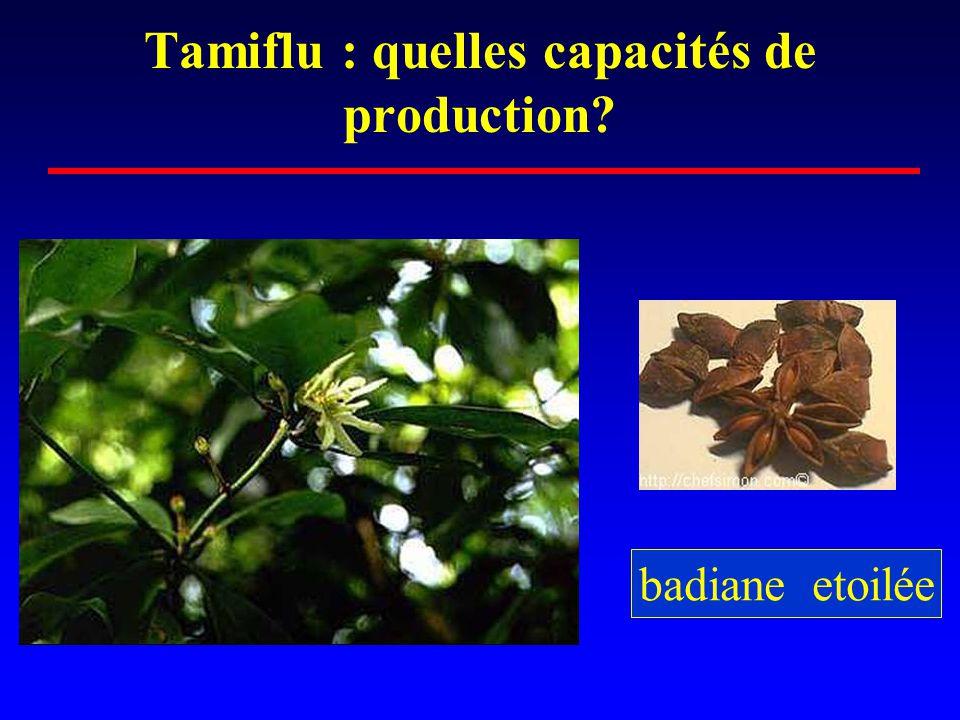 Tamiflu : quelles capacités de production