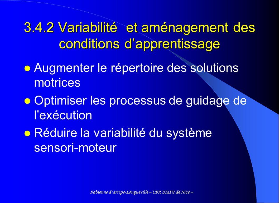 3.4.2 Variabilité et aménagement des conditions d'apprentissage