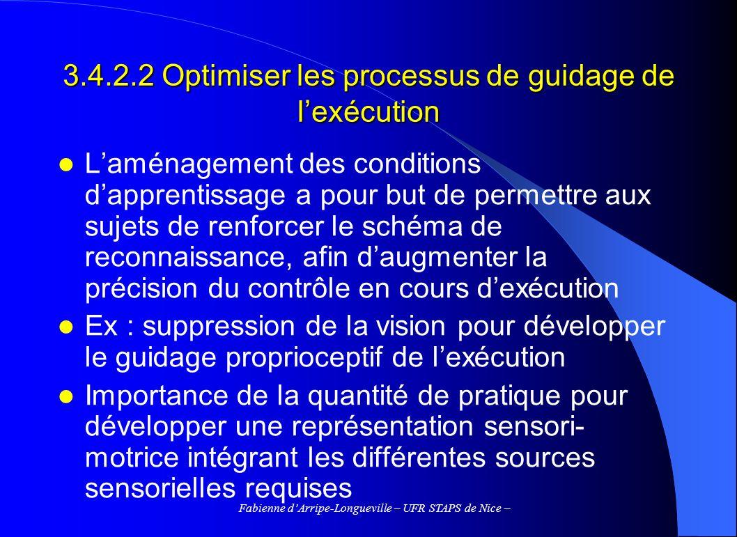 3.4.2.2 Optimiser les processus de guidage de l'exécution